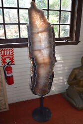 Amethyst Pink Lifesize Specimen Sculpture.. A Slice Of Life From Brazil 5ft T
