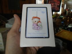 111005 Precious Moments Ornament Baby's 1st First Christmas 2011 Girl/snowman