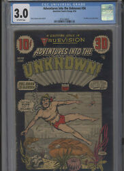 Adventures Into The Unknown 56 Affordable Grade Cgc Harry Lazarus Cover And Art