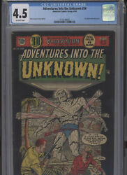 Adventures Into The Unknown 54 Solid Grade Cgc Harry Lazarus Cover And Art