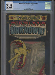 Adventures Into The Unknown 53 Affordable Grade Cgc Harry Lazarus Cover Art