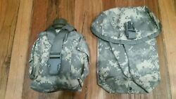 Us Military Army Acu Molle Ii Cover Utility Pouch W Canteen And Sustainment Set