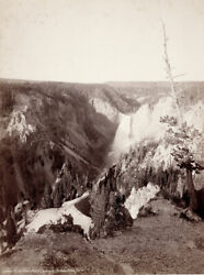Lower Falls From Point Lookout Yellowstone By J. K. Hillers 1880s