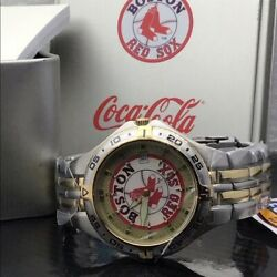 Boston Red Sox Mlb Two Tone Stainless Steel Fossil Watch New