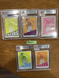 1972-73 Topps Proof Card Set Darnell Hillman Pacers Great True 1/1 Bvg Graded