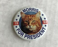 Morris the Cat for President 1992 Pinback Button Pin Vote Election 9Lives