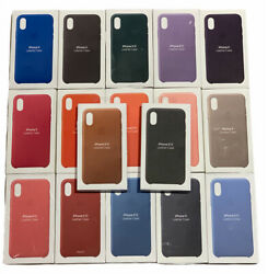 All Colours Official Genuine Apple Iphone X / Xs Leather Case Retail Original