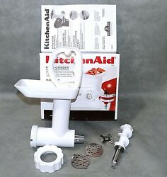 Near Mint In Box Kitchenaid Food Meat Grinder Used Once Fga Stand Mixer Attch