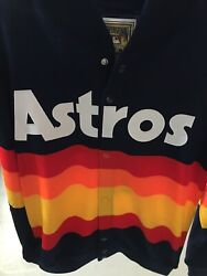 Houston Astros 1986 Mitchell And Ness Rainbow Throwback Sweater Small Kate Upton