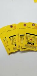 2021 Blank Yellow Fire Extinguisher Inspection Card Tag Office 25 Pieces