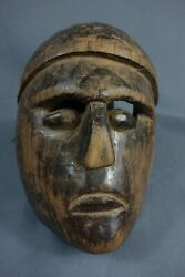 Vintage Antique Hand Carved Mox Dance Mask From Nahuala, Guatemala