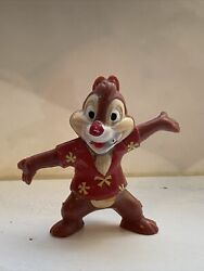 Disney Afternoon Chip And Dale Rescue Rangers Dale Chipmunk 2 Pvc Figurine