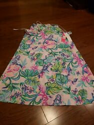 Lilly Pulitzer Billie Ruffle Dress Amethyst Tint Mermaid In The Shade Size Small