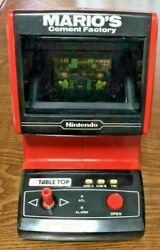 Nintendo Game And Watch Mario Cement Factory Stationary Type W/ Box [rare] B0058