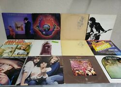 Vintage Lot Bundle Of 12 Rock Mixed Vinyl Lp Record Used Pre-owned Condition