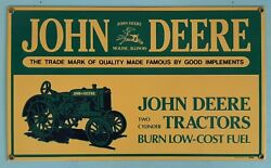 Vintage John Deere Two Cylinder Tractor Metal Sign Ande Rooney 1995 Perfect