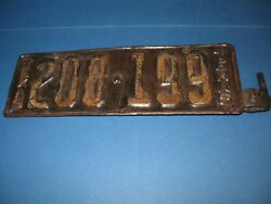 Texas License Plate 1923-24 With Front Bracket Single Plate