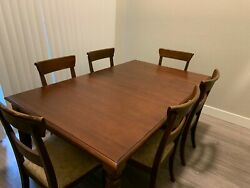 Ethan Allen British Classics Dining Room Set With 6 Chairs
