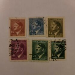 Ww2 Germany Hitler Stamps Of 6 Ref 326
