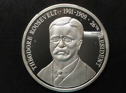1998 American Mint Theodore Roosevelt Presidents Of The Usa Silver Medal A3041