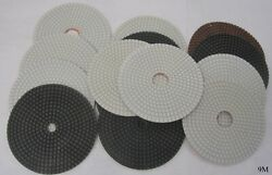 14 Assorted 6 In Granite Polishing Pads 9x 200 Grit 5x 50 Grit