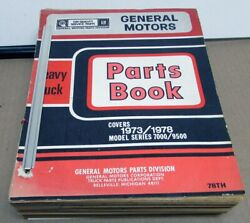 1973-1978 Chevrolet Gmc Truck Dealer Parts Book Heavy Duty Series 7000-9500 Gm