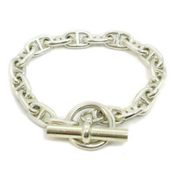 Hermes Chaine Dand039ancre Pm Silver 925 Charm Bracelet Silver Authentic 36982