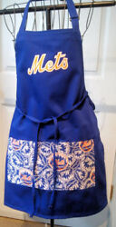 New York Mets Apron - Kitchen Bbq - Handmade - Unisex - One Size Fits All