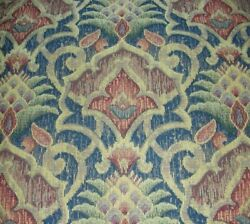 VINTAGE ANTIQUE TAPESTRY FABRIC 3 PIECES