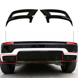 For Discovery Sport 2020-2021 Gloss Black Rear Tail Exhaust Pipe Muffler Frame