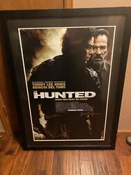 The Hunted Autographed Framed Poster Tommy Lee Jones Benicio Del Toro Connie