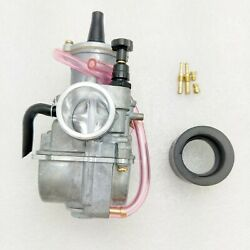 28mm Pwk Flatslide Power Jet Carb For 125 250cc Koso Oko Moped Scooter