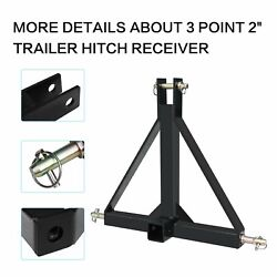 3 Point 2 Receiver Trailer Hitch Category One Tractor Tow Hitch Drawbar Adapter