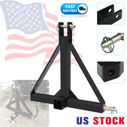 3 Point 2 Receiver Trailer Hitch Category 1 Tractor Tow Drawbar Adapter Pull Us