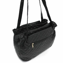 Gold Coast Womenand039s Quilted Microfiber Shoulder Bag In Black