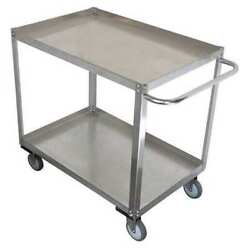 Zoro Select 11a466 Stainless Steel Corrosion-resistant Utility Cart With Lipped