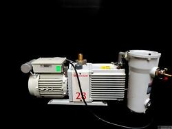 Edwards E2m28 Dual Stage Rotary Vane Vacuum Pump W/ Mf30 Outlet Mist Filter
