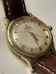 Vintage Omega Constellation Pie Pan Solid 18ct Gold Arrow Markers