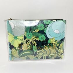 Marc Jacobs Cosmetic Bag Runway Spring 2020 Green Floral Zipper $8.95