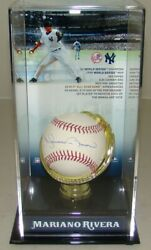 Autographed New York Yankees Mariano Rivera Signed Baseball In Display