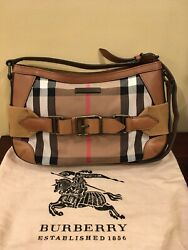 BURBERRY House Check Canvas and Leather bag $395.00