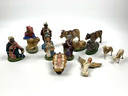 Vintage Fontanini Depose Nativity Set 13 Pieces Made In Italy