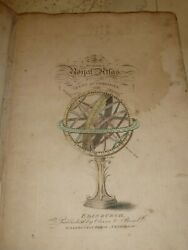 Antique C.1805 Modern Royal Atlas Hand Coloured Engraved Maps By Oliver And Boyd.