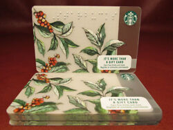 Lot Of 11 Starbucks 2016 Coffea Braille Gift Cards New With Tags
