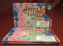 Lot Of 20 Starbucks, 2017 Pink And Green Bunnies Happy Easter Gift Cards New W/tag