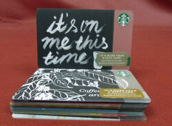 Lot Of 16 Assorted Starbucks 2014 Gift Cards New With Tags