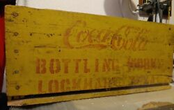 Antique Coca-cola Upside-down Horse-drawn Crate 24 Slot Lockhart Texas 19x12x9