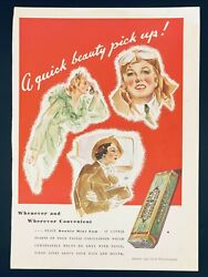 1935 Wrigley's Double Mint Chewing Gum Ad - A Quick Beauty Pick Up