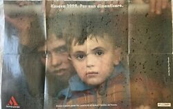 Rare Poster On War Refugees In Albania -remembering The Kosovo War Of 1999 -