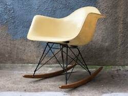 Eames Rope-edge Rar Rocking Chair Produced By Zenith Pre Herman Miller
